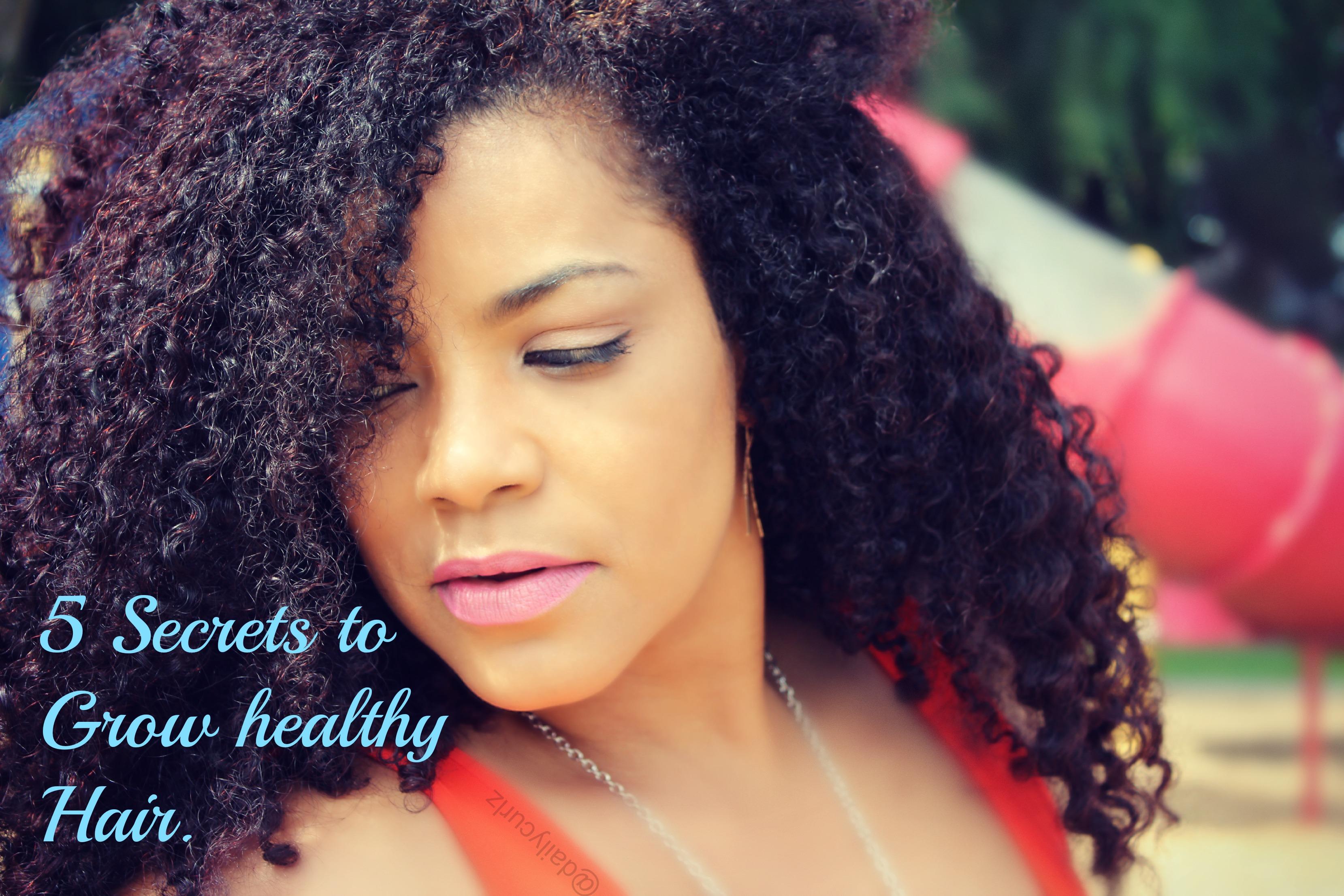 5 secrets to grow long hair/ 5 secretos para crecer tu cabello.