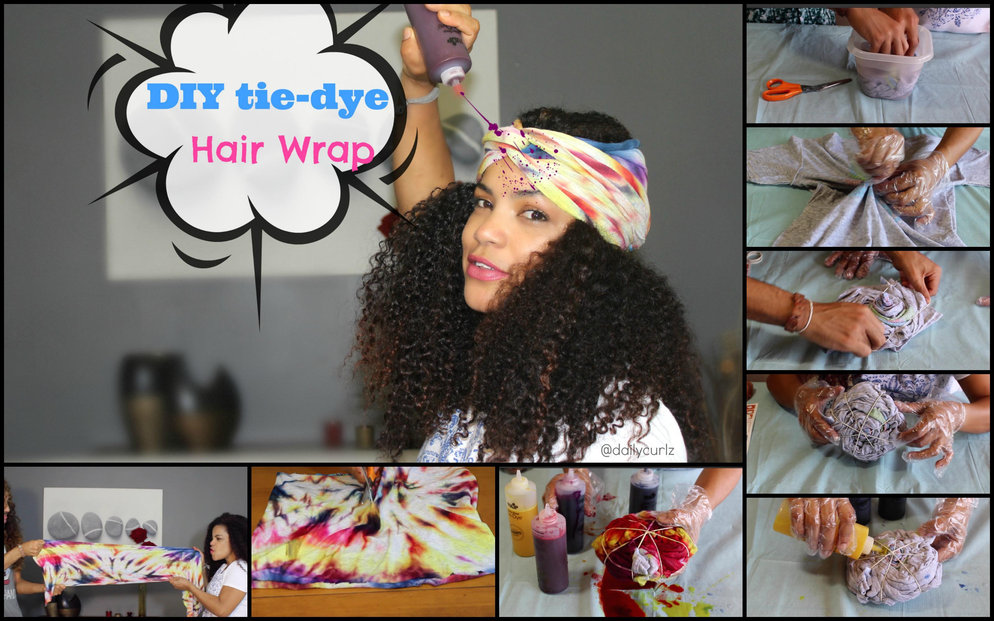 transform your old shirt into a hair wrap / Turbante para el cabello DIY