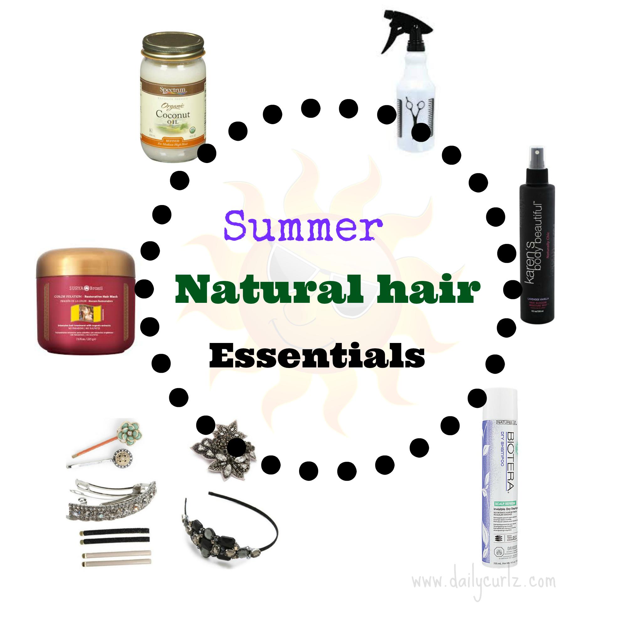 summer natural hair essentials / Esenciales para el verano-cabello rizado