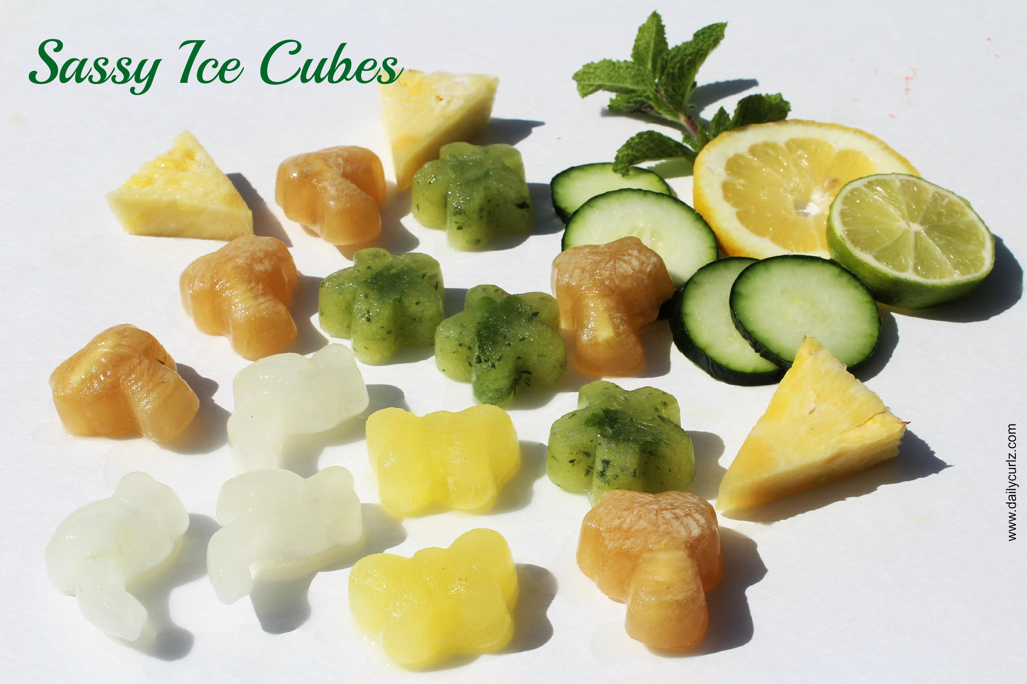 Sassy Ice cubes / Cubitos de hielo frutales saludables