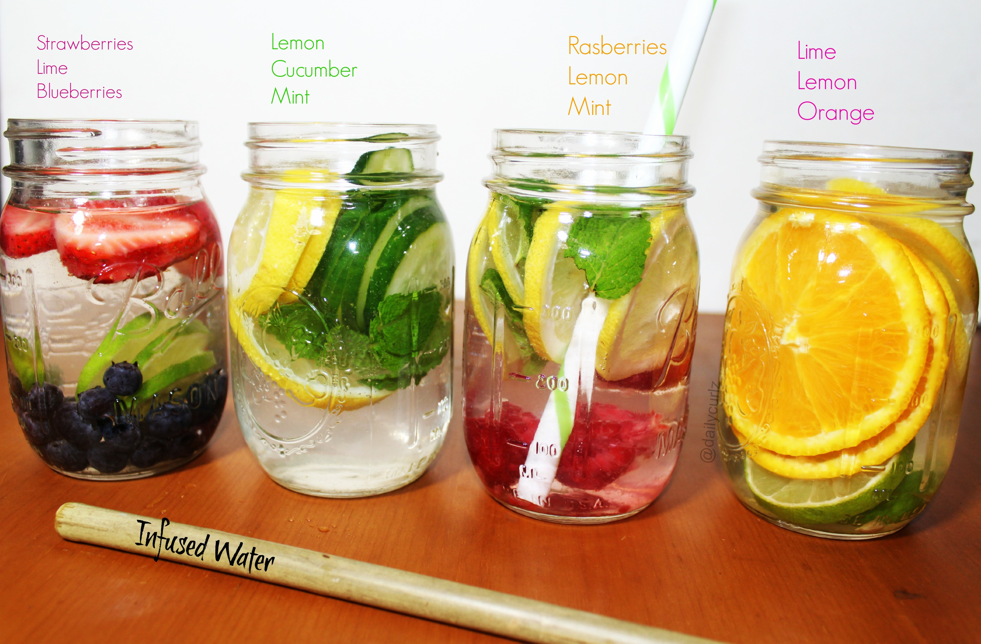 4 amazing infused water