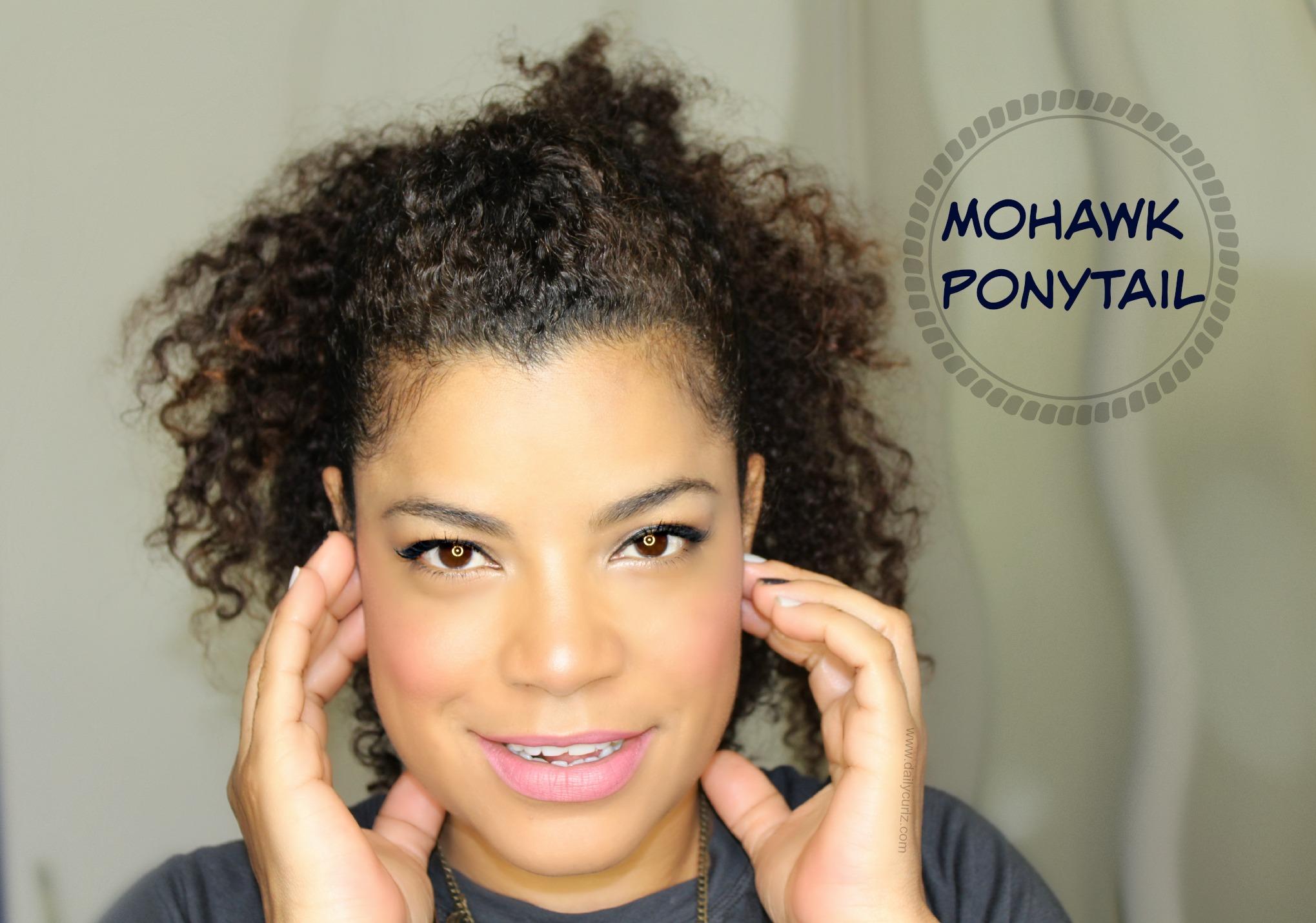 Easy fuller ponytail | Cola de caballo en el cabello rizado
