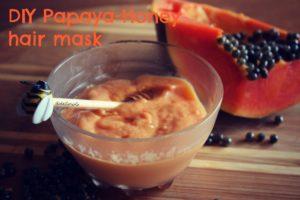papaya honey hair mask