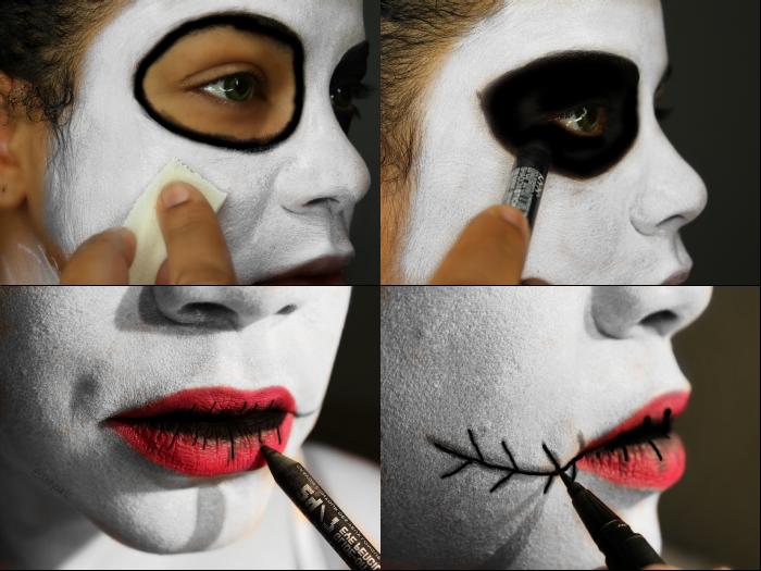 Easy Halloween Makeup idea - Easy Halloween Face Makeup