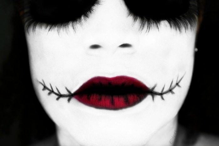 maquillaje fácil para el dia de muertos