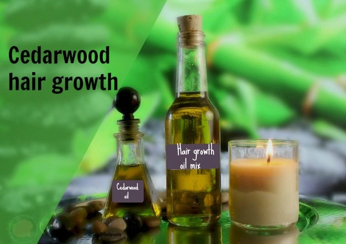 It's time for a cedarwood hair treatment