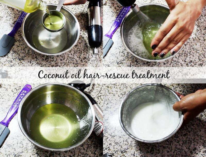 Rescue hair homemade treatment  | Tratamiento casero intensivo para el cabello reseco