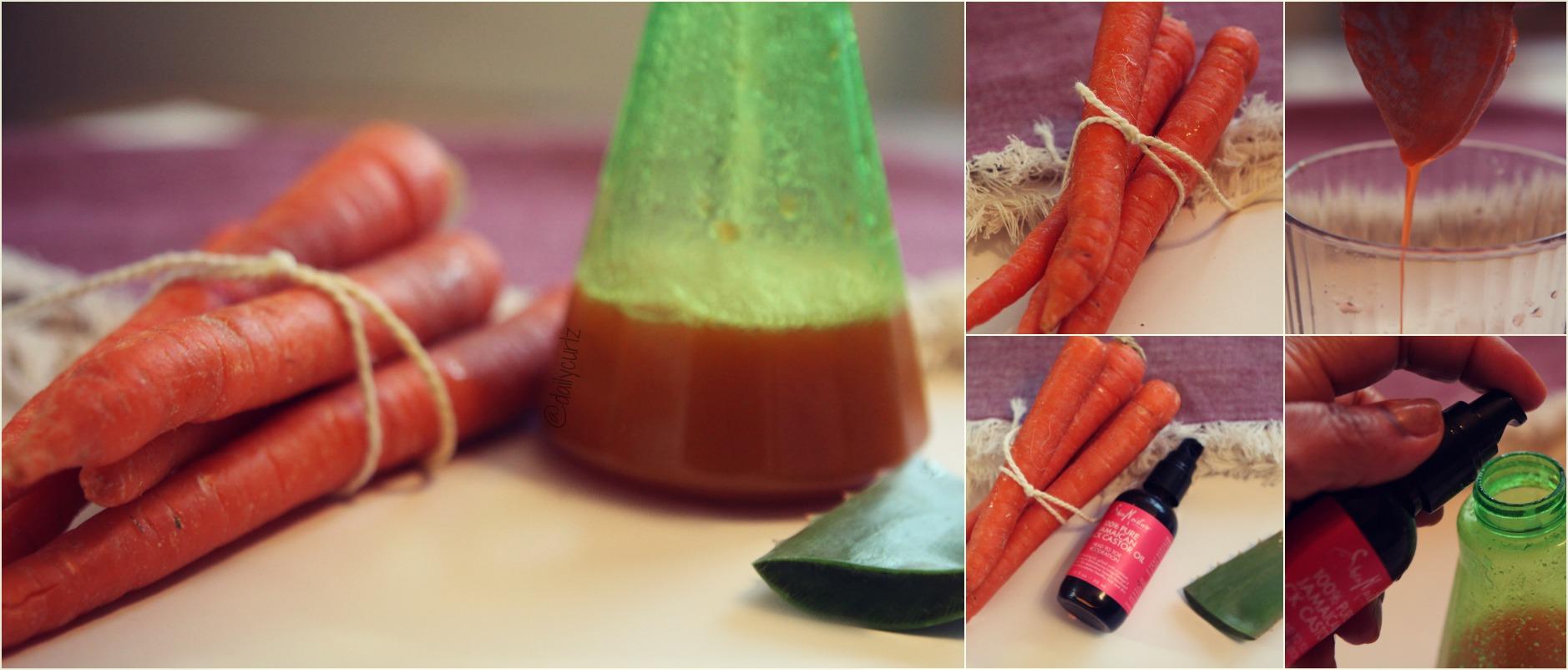 Tratamiento Capilar de Jugo de Zanahoria y Aloe Vera