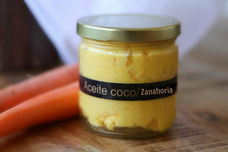 Crema de peinar casera DIY de coco y zanahoria