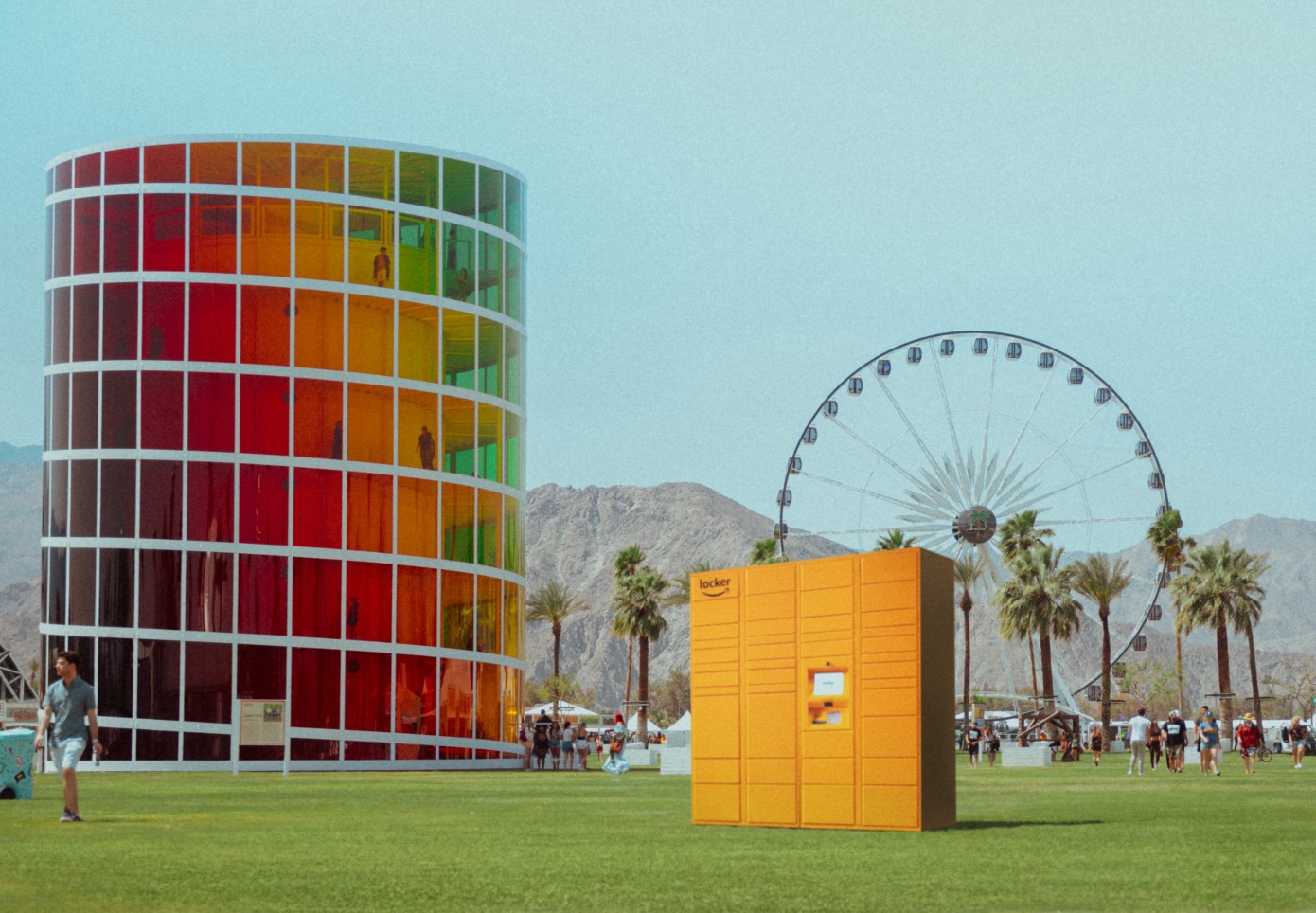 Amazon Brought Lockers to Coachella and it was Amazo...ing